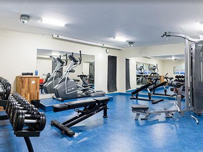 Maskinrummet hotellets gym