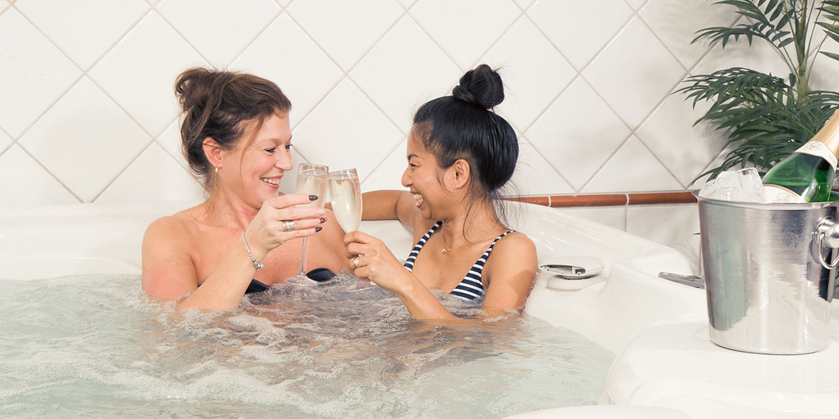 Bubbelpool i relaxavdelningen